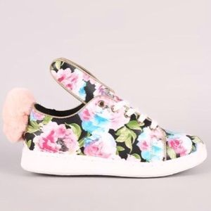 Shoes - Women's floral bunny sneakers